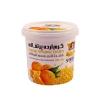 کرم ارده  پرتقالی شیررضا مقدار 200 گرم